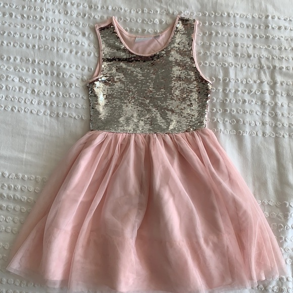 Sequin Pink Tulle Dress